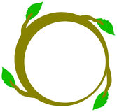 Unity vine. A circular image of a vine showing the leaves as hands. It can be a symbol of unity or working together or others stock illustration
