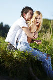 Unity of young couple in love Royalty Free Stock Photography