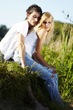 Unity of young couple in love Royalty Free Stock Image