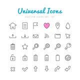 Univerasal web icons set Royalty Free Stock Images