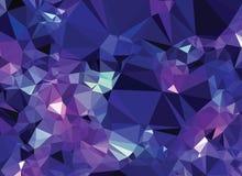 Univers abstrait de cristal de modèle de la géométrie de triangle de fond Photographie stock