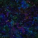 Univers bleu-foncé abstrait Ciel étoilé de nuit colorée Espace extra-atmosphérique multicolore Fond de texture Vecteur sans joint illustration libre de droits