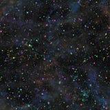 Univers bleu-foncé abstrait Ciel étoilé de nuit de nébuleuse Espace extra-atmosphérique éclatant Fond de texture Ilustration sans illustration de vecteur