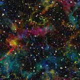 Univers coloré abstrait Ciel étoilé de nuit de nébuleuse Espace extra-atmosphérique brillant multicolore Fond de texture Vecteur  illustration libre de droits