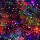 Univers coloré abstrait Ciel étoilé de nuit de nébuleuse Espace extra-atmosphérique multicolore Fond de texture Vecteur sans join illustration de vecteur