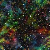 Univers coloré abstrait Ciel étoilé de nuit de nébuleuse Espace extra-atmosphérique multicolore Fond de texture Vecteur sans join illustration de vecteur