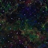 Univers coloré foncé abstrait Ciel étoilé de nébuleuse Espace extra-atmosphérique multicolore Fond de texture Vecteur sans joint illustration stock
