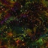 Univers coloré foncé abstrait Ciel étoilé de nuit de nébuleuse Espace extra-atmosphérique brillant multicolore Fond de texture Ve illustration stock
