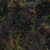 Univers coloré foncé abstrait Ciel étoilé de nuit de nébuleuse Espace extra-atmosphérique multicolore Fond de texture Vecteur san illustration de vecteur
