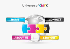 Univers de cmyk Photographie stock