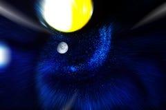 Univers de cosmos avec les nébuleuses et la planète d'étoiles images stock