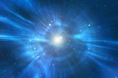 Univers de cuvette de course de chaîne de l'espace Photographie stock