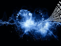 Univers de l'information illustration de vecteur