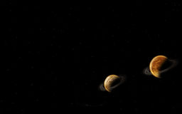 univers de planète Images stock