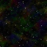 Univers foncé abstrait, ciel étoilé de nuit d'été, espace extra-atmosphérique brillant, fond galactique de texture, illustration  illustration de vecteur