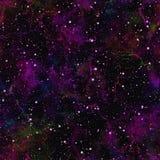 Univers foncé abstrait Ciel étoilé de nuit de nébuleuse Espace extra-atmosphérique brillant Fond de texture illustration libre de droits