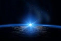 Univers : La terre et le soleil Image stock