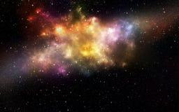 Univers rempli d'étoiles Images libres de droits