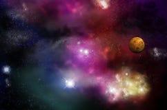 Univers - starfield et nébuleuses Photographie stock libre de droits