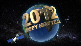Universal 2012. 3D scene for universal 2012 happy new year Stock Photography