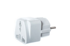 Universal American to European travel adapter converter plug Stock Photos