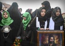 Universal Ashura Mourning Ceremony. Day of Ashura. Istanbul, Turkey - November 3, 2014: Universal Ashura Mourning Ceremony. Day of Ashura Royalty Free Stock Images