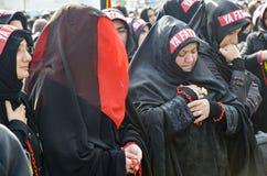 Universal Ashura Mourning Ceremony. Day of Ashura. Istanbul, Turkey - November 3, 2014: Universal Ashura Mourning Ceremony. Day of Ashura Stock Image