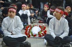 Universal Ashura Mourning Ceremony. Day of Ashura. Istanbul, Turkey - November 3, 2014: Universal Ashura Mourning Ceremony. Day of Ashura Royalty Free Stock Photography