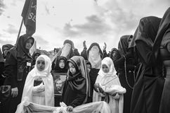 Universal Ashura Mourning Ceremony. Day of Ashura. Istanbul, Turkey - November 3, 2014: Universal Ashura Mourning Ceremony. Day of Ashura Stock Image