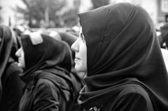 Universal Ashura Mourning Ceremony. Day of Ashura. Istanbul, Turkey - November 3, 2014: Universal Ashura Mourning Ceremony. Day of Ashura Royalty Free Stock Images