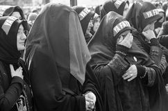 Universal Ashura Mourning Ceremony. Day of Ashura. Istanbul, Turkey - November 3, 2014: Universal Ashura Mourning Ceremony. Day of Ashura Royalty Free Stock Photo