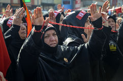 Universal Ashura Mourning Ceremony. Istanbul, Turkey - November 3, 2014: Universal Ashura Mourning Ceremony. Day of Ashura Royalty Free Stock Image