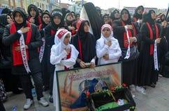 Universal Ashura Mourning Ceremony. Istanbul, Turkey - November 3, 2014: Universal Ashura Mourning Ceremony. Day of Ashura Stock Image