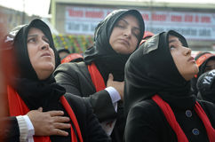 Universal Ashura Mourning Ceremony. Istanbul, Turkey - November 3, 2014: Universal Ashura Mourning Ceremony. Day of Ashura Stock Photos
