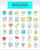 Universal & Basic Icons Royalty Free Stock Photography
