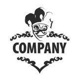 Logo joker. Universal black and white logo Joker Royalty Free Stock Photo