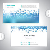 Universal blue business card. Royalty Free Stock Photo