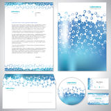 Universal blue corporate identity template. Royalty Free Stock Photo