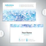 Universal blue-white laboratory business card. Stock Photos