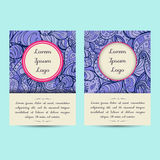 Universal Boho Paisley Greeting Card Templates Stock Images