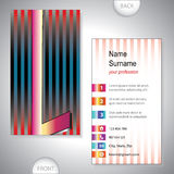 Universal business card with initials L Royalty Free Stock Images