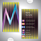Universal business card with initials M Royalty Free Stock Photography