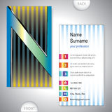 Universal business card with initials N Royalty Free Stock Image