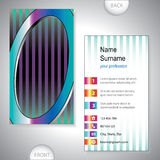 Universal business card with initials O Stock Photography