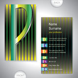 Universal business card with initials P Stock Photo