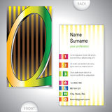 Universal business card with initials Q Royalty Free Stock Photo