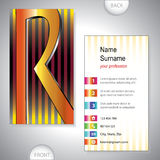 Universal business card with initials R Stock Photography