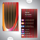Universal business card with initials U Stock Images