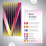 Universal business card with initials V Stock Photos