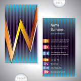 Universal business card with initials W Stock Photography